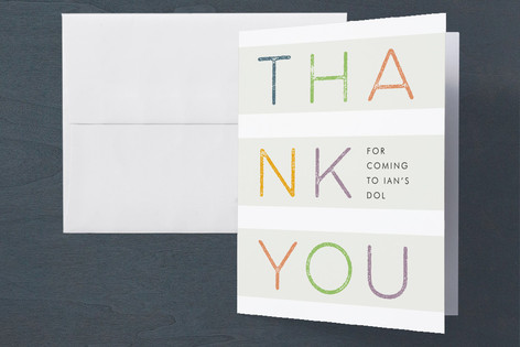 Rainbow Dol Korean 100 Day Baby Thank you card