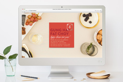Golden Chinese New Year Lunar New Year Online Invitations