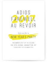 Au Revoir New Year's Eve Online Invitations