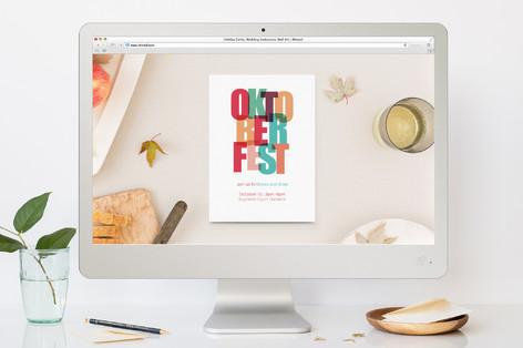 Beer Party Oktoberfest Online Invitations