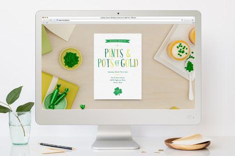 Pints & Pots of Gold St Patty's Day St. Patrick's Day Online Invitations