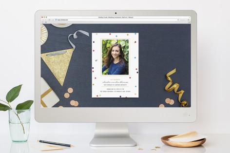Flecks of Confetti Graduation Online Invitations