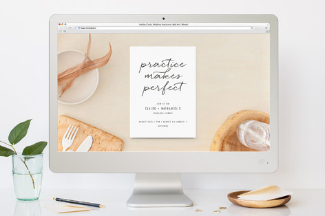 Perfect Practice Rehearsal Dinner Online Invitations