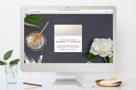 Pointillisme Rehearsal Dinner Online Invitations