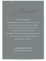 Just Lovely Foil-Pressed Direction Cards