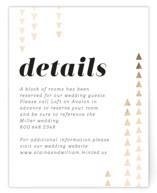 Modern Strands Foil-Pressed Direction Cards