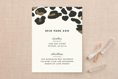 On The Wild Side Foil-Pressed Direction Cards