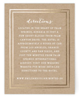 Gold Rush Foil-Pressed Direction Cards