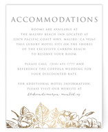 Gilded Wildflowers Foil-Pressed Direction Cards
