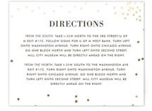 Thrilling Foil-Pressed Direction Cards