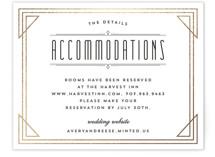 Framed Deco Elegance Foil-Pressed Direction Cards