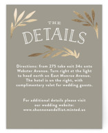 Wonderland Foil-Pressed Direction Cards