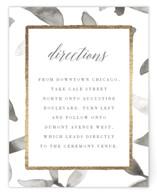 Gilded Woodgrain Foil-Pressed Direction Cards