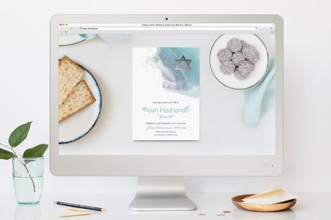 Silver Star Rosh Hashanah Online Invitations