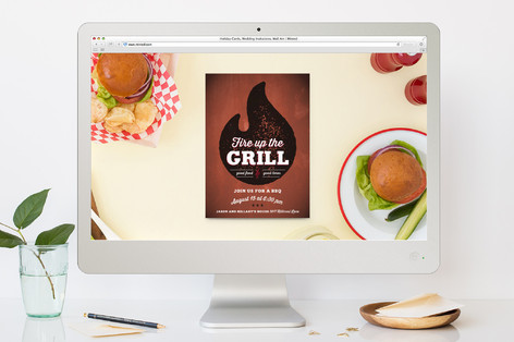 Fire Up The Grill Summer Party Online Invitations