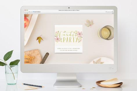 Garden Delight Summer Party Online Invitations