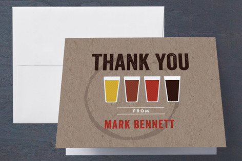 Beer Tasting Adult Birthday Party Thank You Cards