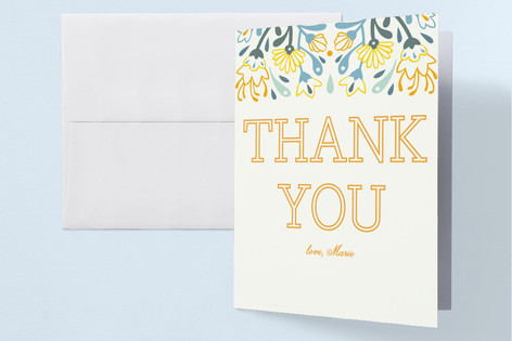 Bright Flower Birthday Adult Birthday Party Thank You Cards