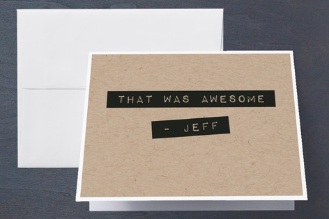 Label Maker Man Birthday Adult Birthday Party Thank You Cards