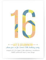 Abstract Age Teen Birthday Party Online Invitations