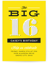 Big Numbers Teen Birthday Party Online Invitations