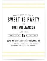Fresh Linen Teen Birthday Party Online Invitations