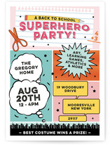 Back To School Superhero Party
