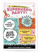 Back To School Superhero Party