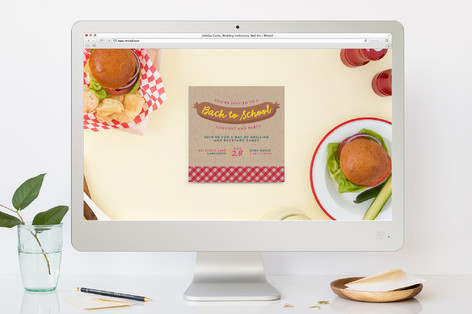 Hotdog Picnic Back-To-School Party Online Invitations