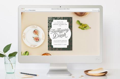 Falling Thanksgiving Online Invitations