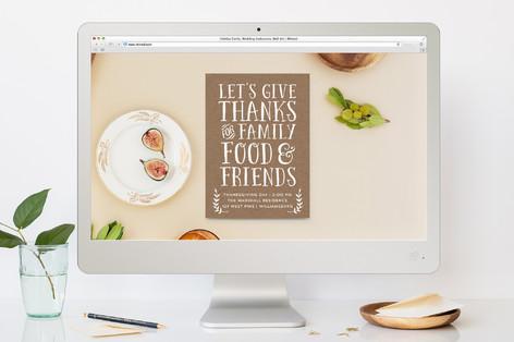 Farm Fresh Thanksgiving Online Invitations