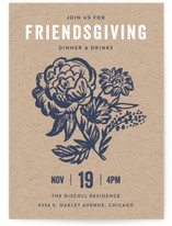 Floral Friendsgiving Thanksgiving Online Invitations