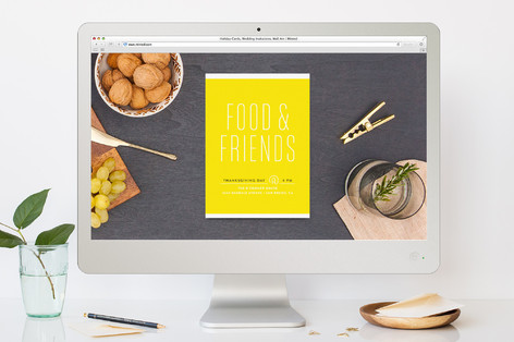 Food & Friends Thanksgiving Online Invitations