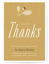 Simple Rustic Thanksgiving Online Invitations