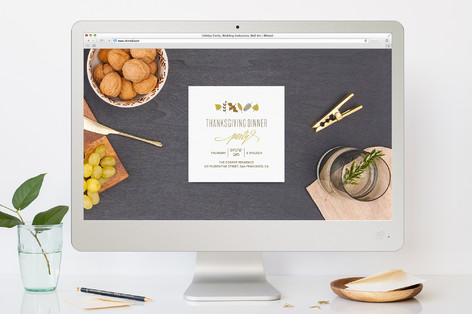 To Give Thanks Party Thanksgiving Online Invitations