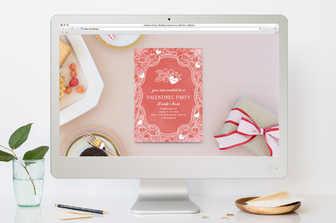 Valentine Elegance Valentine's Day Online Invitations