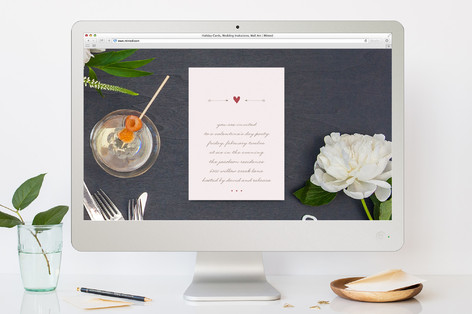 Arrowed Heart Valentine's Day Online Invitations