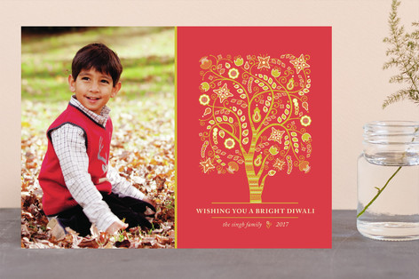 Tree of Life Diwali Cards