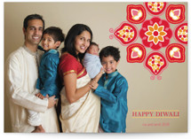 Vermilion Lotus Diwali Cards