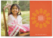 Vermilion Diwali Cards