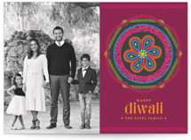 Paisley Emblem Diwali Cards