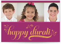 Floral Diwali Diwali Cards