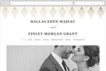 Deco Fan Border Wedding Websites