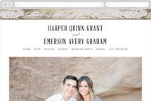 Modern Marble Wedding Websites