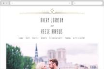 Framed Deco Elegance Wedding Websites