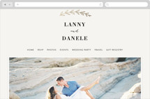 Elegant Announcement Wedding Websites