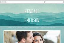 Misty Mountain Range Wedding Websites