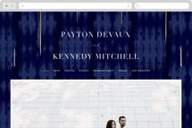 Gilded Ikat Wedding Websites