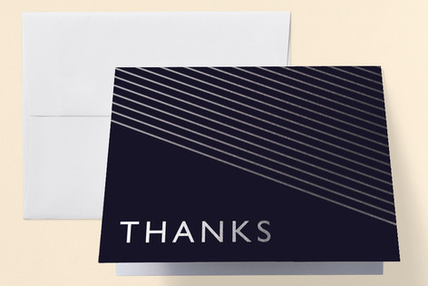 Midnight Modern Anniversary Party Thank You Cards