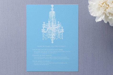 Chandelier Enclosure Cards